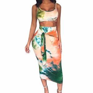 Dresses & Skirts - Ride or Dye | Crop Top Bodycon Skirt Set